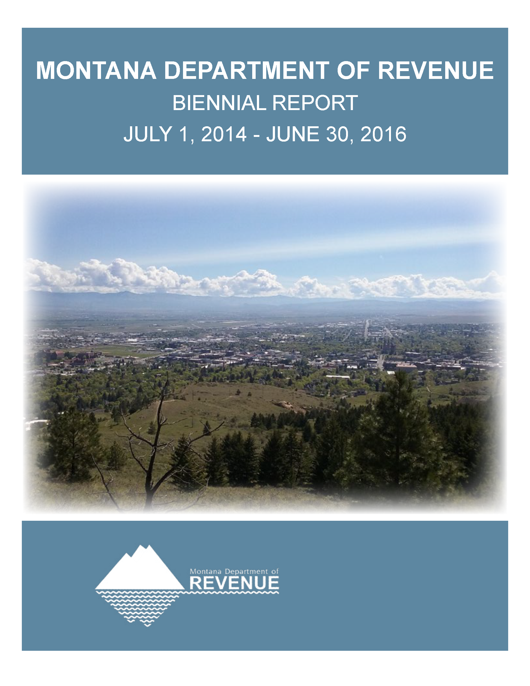2014-2016 Biennial Report Cover Image